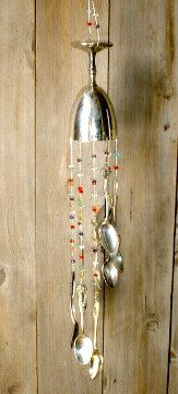 Repurposed Silver Windchime made from recycled Silverware
