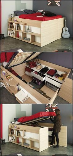 44 Trendy Ideas Bedroom Storage For Small Rooms Kids Platform Beds 44 Trendy Ideas Bedroom Storage For Small Rooms Kids Platform Beds Bedroom Storage For Small Rooms, Kids Bedroom, Bedroom Bed, Extra Bedroom, Bedroom Small, Trendy Bedroom, Small Apartments, Small Spaces, Homemade Beds