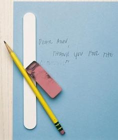 To revive a dried-out eraser or clean a smudged one, lightly rub it over an emery board.