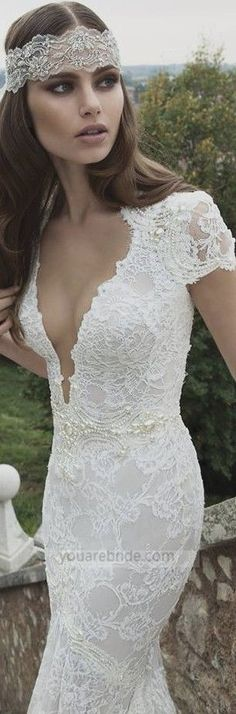lace wedding dress; sexy wedding dress