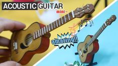 [MINIATURE] DIY How to Make Acoustic Guitar -Tutorial 미니어쳐 통기타 만들기!!