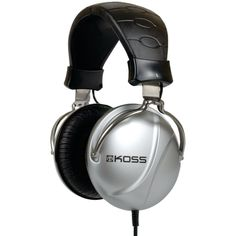 KOSS 186511 Full-Size Noise-Isolating Headphones Oxygen-free copper voice coils improve signal transmission & conduction for cleaner, clearer sound; Studio Headphones, Best Headphones, Over Ear Headphones, Noise Reduction Headphones, Audio, Electronic Gifts, Headset, Ebay