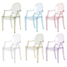 Phillipe Stark Lou Lou Ghost chairs - a mini version of the beautiful Louis Ghost chair, so perfect for a nursery! I managed to pick a lilac one up for £20 in the Bloomsbury sale :)