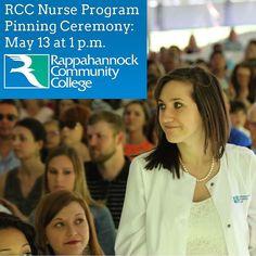 YOU'RE INVITED: RCC Nurse Program Pinning Ceremony: May 13 at 1 p.m. at the Warsaw Campus #nurse #rccsummer #nursing #rappahannock #community #college #rcc #rappahannockcommunitycollege #warsaw #warsawva #virginia #graduation #commencement