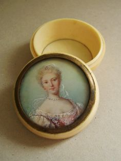 Ivory Box with Portrait 1760