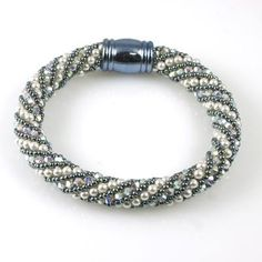 Using the very accessible Russian spiral technique, spoil yourself with 300+ genuine Swarovski Element crystals and pearls. But always remember, a piece of jewe
