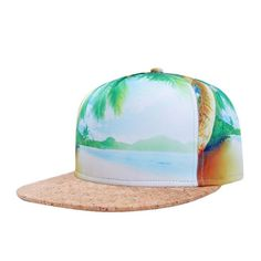 *Online Exclusive* Men's Palm Tree Printed Hat