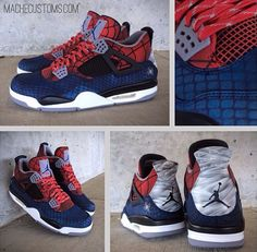 "Air Jordan 4 ""Spider-Man"" Custom"
