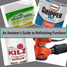 An Amateur's Guide to Refinishing Furniture
