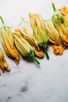Vegan Baked Squash Blossoms with Miso Cashew Cheese — Will Frolic for Food Cashew Cheese, Vegan Cheese, Baked Cheese, Baked Vegetables, Fruits And Veggies, Stuffed Squash Blossoms, Amazing Food Photography, Baked Squash, Vegan Appetizers