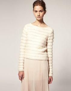 ASOS Textured Stripe Sweater - StyleSays