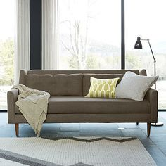 Crosby Sofa #westelm @Gribooth check this sofa for me... but which color - I like them all... the paprika could be amazing.