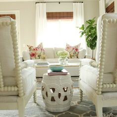 Studio McGee_Living Room Window Treatments And Chairs