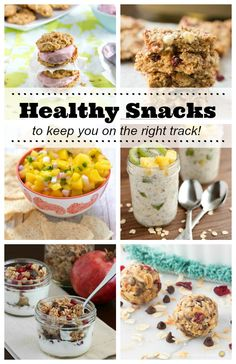 Over 30 healthy snacks to help you stay on track this year! Including healthy ice cream sandwiches, energy bites, protein bars, granola, dips and more!