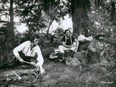Peter Fonda, Jack Nicholson and Dennis Hopper on the set of Easy Rider-1969.