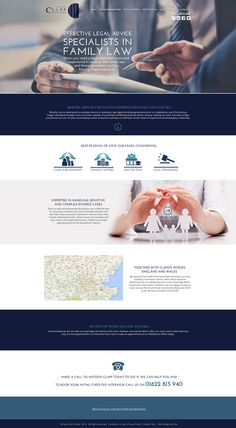 Solicitors Web Design on Behance