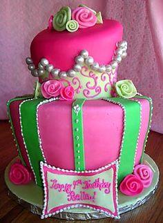 Topsy turvy hot pink and green