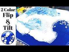 Fluid ART Flip and Tilt with Only 2 Colors! - YouTube