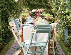Shabby chic patio set