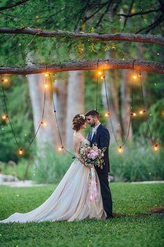 Whimsical wedding backdrop with bistro lights | Christina Carroll Photography #weddingphotography