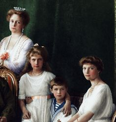 The last Imperial family of Russia, 1913 coloured by imperial - russia