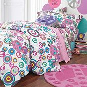 Peace Percale Comforter Cover - A's new comforter and theme for her room (when it gets made over this summer).
