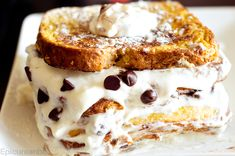 Chocolate Chip Stuffed French Toast