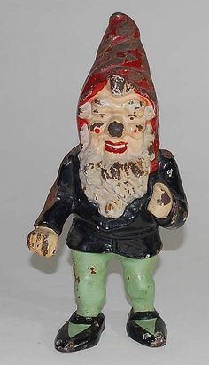 antique gnome cast iron very vintage great!