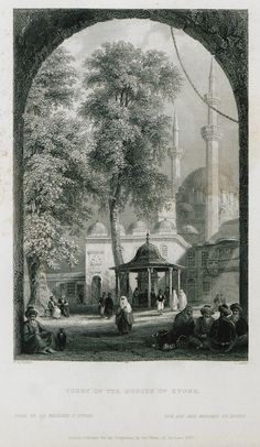 Eyüp Mosque-(The Beauties of the Bosphorus; by Miss Pardoe, from drawings by W. H. Bartlett.)'1874