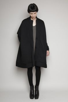 Totokaelo - Rick Owens Lilies - Quilted Sail Coat - Black