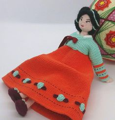 Amigurumi doll Crochet doll Korean doll Doll for girl Crochet