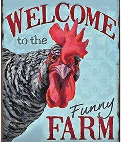Chicken Signs, Chicken Humor, Chicken Art, Farm Chicken, Chicken Quotes, Chicken Coops, Garage Cafe, Amazon Tribe, Funny Farm