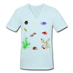 My Fish Tank  Unisex V-Neck T-Shirt by American Apparel  Unisex V-neck jersey t-shirt, 100% cotton, Brand: American Apparel   SPECIAL NOTE: It is recommended that men order a size up and women a size down and/or pay special attention to the sizing chart.   $29.40