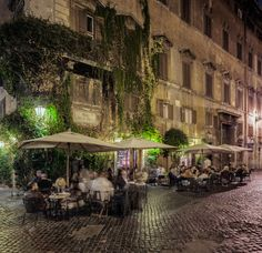 - Clipped by linenlavender - Slipp. Beautiful Landscapes, Beautiful Gardens, Art After Dark, Coffee Places, Coffee Culture, I Want To Travel, Suitcases, Light Painting, Rome Italy