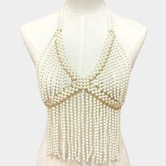 pearl body chain