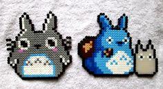Totoro perler bead sprites by AenysBeadArt