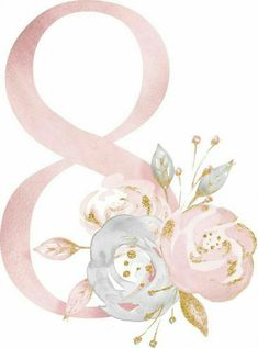 ideas for birthday ideas pictures Wallpaper Backgrounds, Iphone Wallpaper, Alphabet And Numbers, Baby Art, 8th Of March, Flower Frame, Illustration, Diy And Crafts, Watercolor