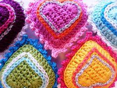 Delicadezas en crochet Gabriela: Corazones en crochet tutorial