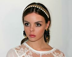 Earrings // Dolce & Gabbana   Headband // Dauphines of New York