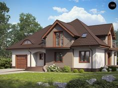 Проекта дома Z18 - фото 1 Small House Layout, House Layouts, Dream Home Design, Home Design Plans, Modern Bungalow House, Beautiful House Plans, Cute House, Dream House Exterior, Village Houses