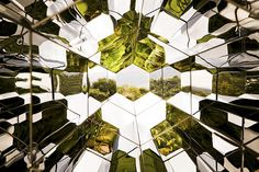 Kaleidoscopic Impressions (by Olafur Eliasson) Vibrant green landscapes are revealed while looking through Olafur Eliasson's 'viewing machine' installed at Inhotim, a contemporary art center and. Brazilian Rainforest, Studio Olafur Eliasson, Icelandic Artists, Animal Collective, Artistic Installation, New View, Green Landscape, Expo, Light Art