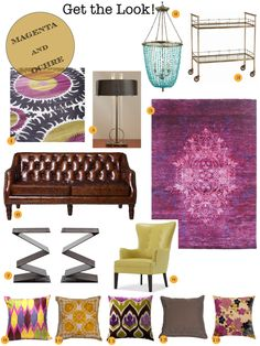 Cozy•Stylish•Chic - Inspiring design, decor and fashion. Magenta and Ochre