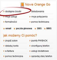 sprawdzenie stanu konta w orange online