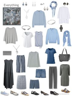 Build a Capsule Wardrobe in 12 Months, 12 Outfits – July 2018 - The Vivienne Files - capsule wardrobe based on a grey and blue Hermes scarf Source by - Capsule Wardrobe Mom, Capsule Outfits, Fashion Capsule, Travel Wardrobe, Mode Outfits, Minimalist Wardrobe, Minimalist Fashion, Looks Style, My Style