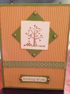 Thinking of you card @ Stampin up camp