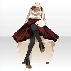FINDER OUTSIDE!|@games -アットゲームズ- Anime Outfits, Girl Outfits, Cute Outfits, Fashion Outfits, Manga Clothes, Drawing Clothes, Chibi, Fashion Design Drawings, Fashion Sketches
