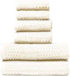 Micro Lush Ivory Diamond Dobby Hand Towel