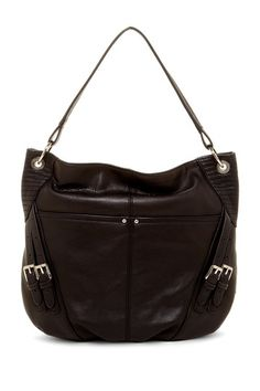 B. Makowsky Metallic Leather Hobo by Handbags For Every Occasion on @HauteLook