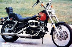 "1980 FXWG Wide Glide. The original ad called it ""The Righteous Bike""."