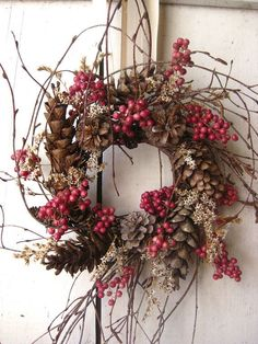 Items similar to Nordic Natural Winter Wreath - Small Wreath - Gift - Natural Wreath on Etsy Noel Christmas, Winter Christmas, All Things Christmas, Xmas, Natural Christmas, Nordic Christmas, Thanksgiving Holiday, Rustic Christmas, Christmas Wedding